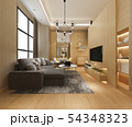modern dining room and living room luxury decor 54348323