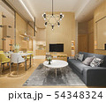 modern dining room and living room luxury decor 54348324