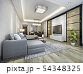 modern dining room and living room luxury decor 54348325