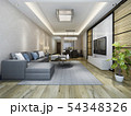 modern dining room and living room luxury decor 54348326