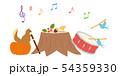 素材-秋,リスと小鳥4 54359330