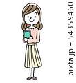 笑顔の女性、女子大学生、学生 54359460