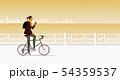 自転車に乗る女性 54359537