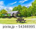 青空 テラス 野外 カフェ イメージ 【長野県】 54366995