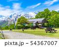 青空 テラス 野外 カフェ イメージ 【長野県】 54367007
