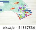 扇子-夏-朝顔-金魚-イラスト 54367530
