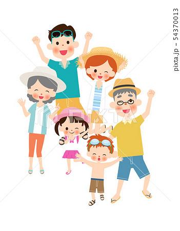 夏の二世帯家族 54370013