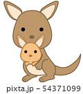 動物のイラスト-カンガルー 54371099