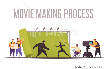 Cinema Movie Crew Composition  54371176