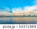 夕暮れの東京の海 54371969