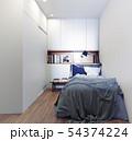 scandinavian style bedroom interior. 54374224