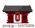 東京 建物・ランドマーク・ビルイラスト / 浅草・雷門・浅草寺 54375856