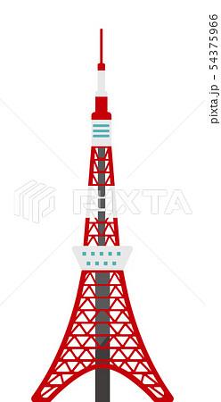 東京 建物・ランドマーク・ビルイラスト / 東京タワー 54375966