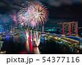 シンガポール・マリーナベイの夜景と花火 NDPリハーサル  54377116