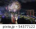シンガポール・マリーナベイの夜景と花火 NDPリハーサル  54377122