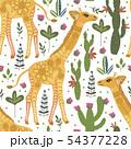 Cartoon giraffe vector illustration. 54377228