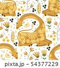 Cartoon giraffe vector illustration. 54377229