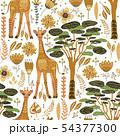 Cartoon giraffe vector illustration. 54377300