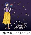 Zodiac Girl Vector Sign. 54377372