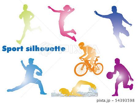 スポーツシルエット 54393598