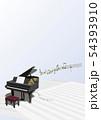ベクター イラスト デザイン CG ai グランドピアノ 音符 音楽 サウンド コンサート イベント 54393910