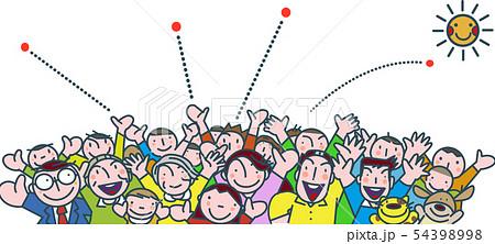 集まる人々の活気 54398998