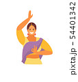 Dancing Indian girl vector 54401342
