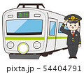 運転士の男性と電車 54404791