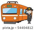運転士の女性と電車 54404812
