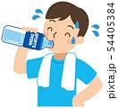 水分補給する男性 54405384