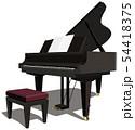 ベクター イラスト デザイン CG ai 楽器 グランドピアノ 音楽 コンサート 背景透明 54418375