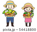 農家の男女と収穫物 54418800