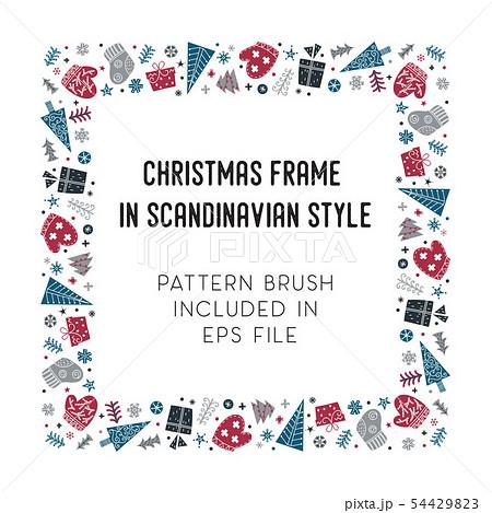 Christmas frame and brush with corner tiles 54429823