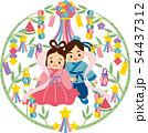 織姫と彦星 七夕 笹飾り背景B 54437312