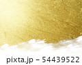 金色の和紙による背景素材 54439522