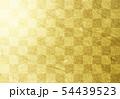金色の和紙による背景素材(市松模様) 54439523