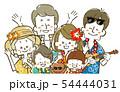 三世代家族旅行-リゾート-笑顔 54444031