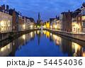Old town at night, Bruges, Belgium 54454036