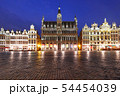 Grand Place Square at night in Brussels, Belgium 54454039