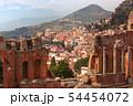 Aerial view of Taormina, Sicily, Italy 54454072