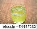お茶 緑茶 玉露 新茶 夏 氷 アイス ソフトドリンク 飲み物 ドリンク 冷たい 季節 54457282