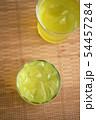 お茶 緑茶 玉露 新茶 夏 氷 アイス ソフトドリンク 飲み物 ドリンク 冷たい 季節 54457284