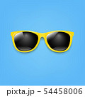 Banner Sunglasses And Blue Background 54458006