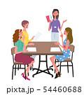 話し合いをする 女性 イラスト 54460688