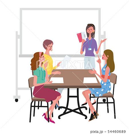 話し合いをする 女性 イラスト 54460689