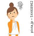若い女性 ママ 三角巾 54468962