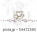Hand Drawn of Coffee Mug with Roasted Coffee Beans 54472385