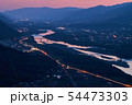 夕暮れの吉野川と徳島平野 54473303