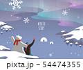 北極 オーロラ クマ 54474355