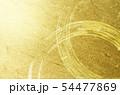 金色の和紙と筆書きの輪(アブストラクト) 54477869